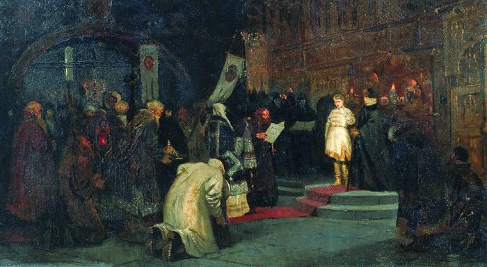 Избрание юного Михаила на царствование. /Фото: images52.fotki.com