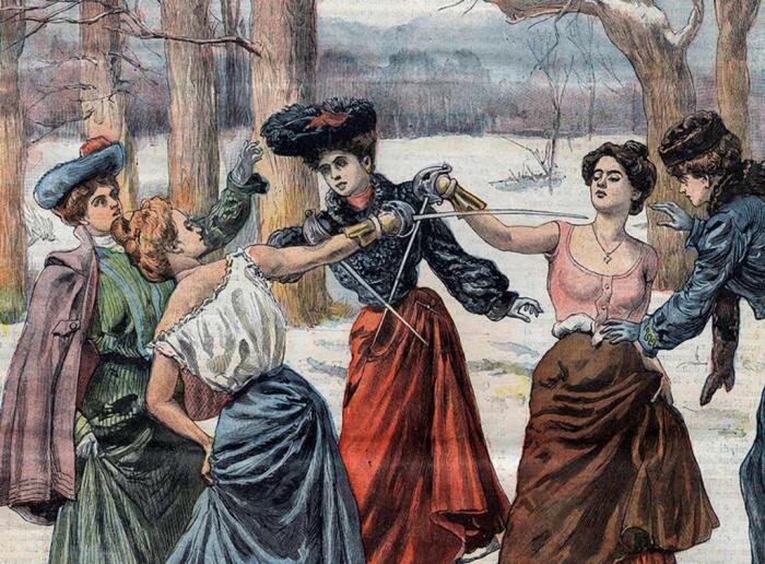 И в России, и в Европе женские дуэли отличались жестокостью. /Фото: vipdis.ru