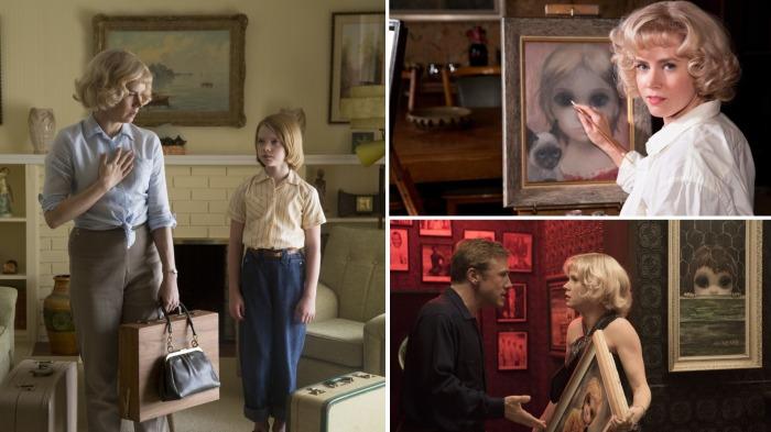 Кадры из фильма о Маргарет Кин «Большие глаза».