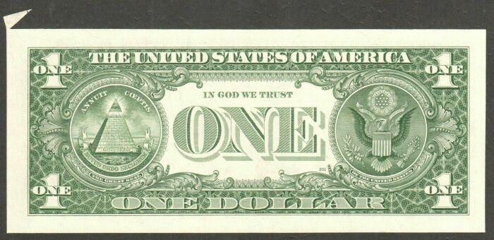 Долларовая купюра и символические изображения, схожие с масонскими. /Фото: ufologov.net