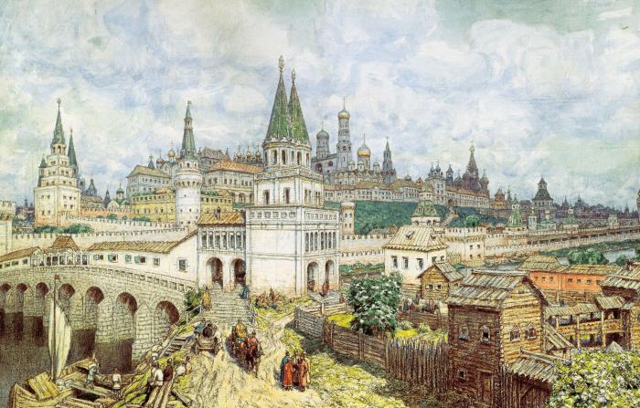 Васнецов. Расцвет Кремля. /Фото: aria-art.ru