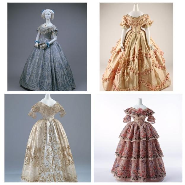 Бальные платья 19 века.