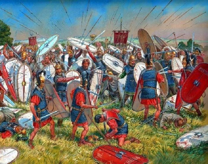 Фракийские даки сражаются против римлян