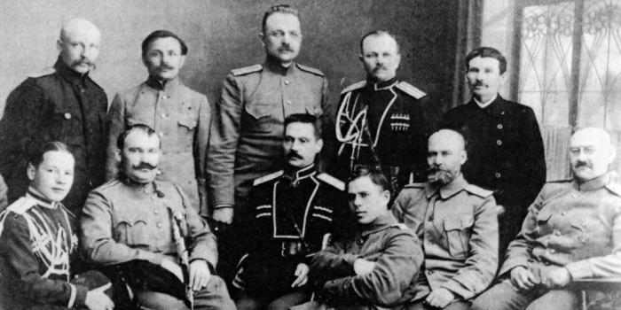 Генерал Семенов и маньчжурские белогвардейцы. /Фото: i.pinimg.com