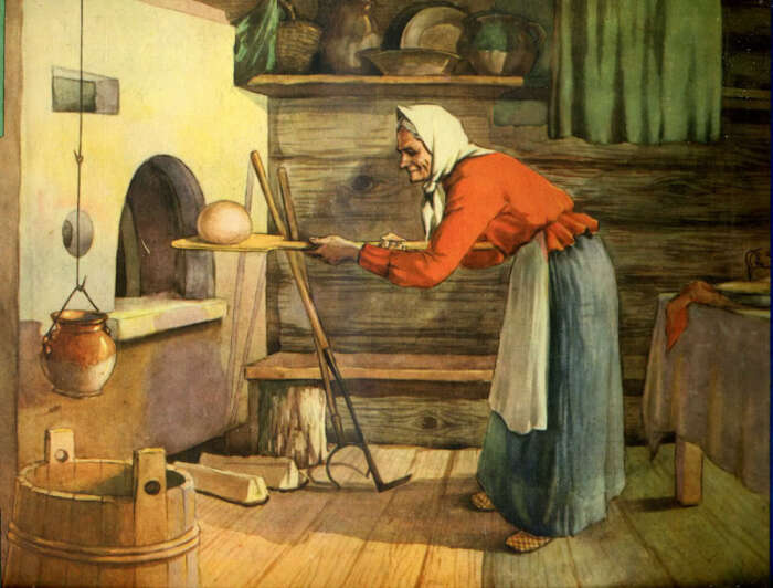 При выпечке хлеба хозяйке нельзя было мешать. /Фото: polny-shkaf.utopia14.org