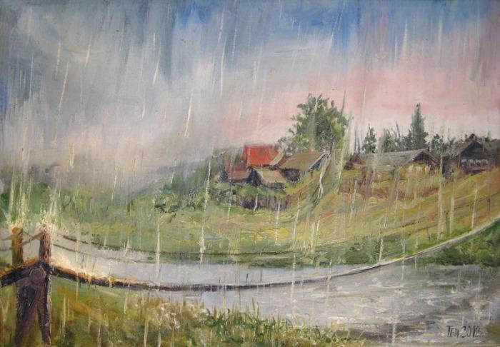 Дождь на Руси считали подарком небес. /Фото: onlineart.ru