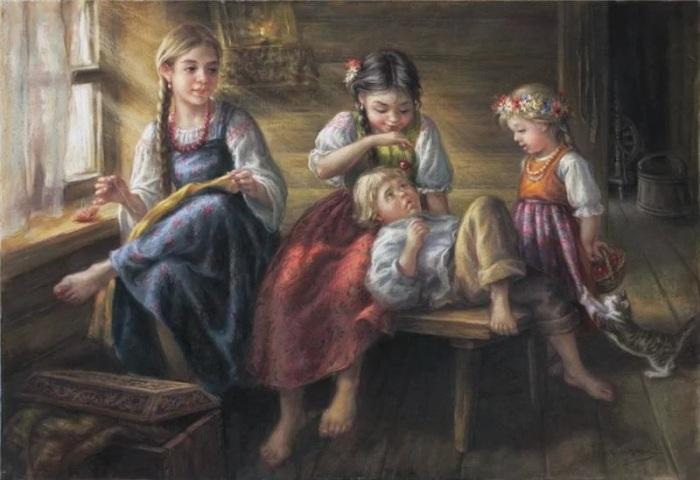 Суворов уделял внимание здоровью крестьянских детей. /Фото: avatars.mds.yandex.net