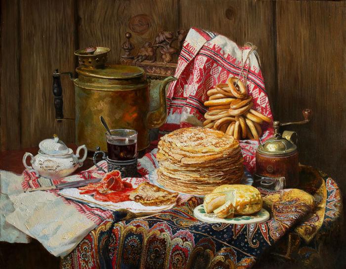 После ужина на столе оставляли еду на ночь, чтобы умершие тоже могли откушать. /Фото: tourism.pskov.ru