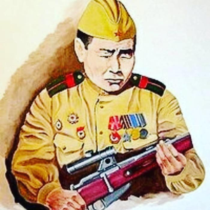 За время боёв на фронтах Великой Отечественной войны Кульбертинов уничтожил 587 немецких солдат и офицеров./Фото: stihi.ru