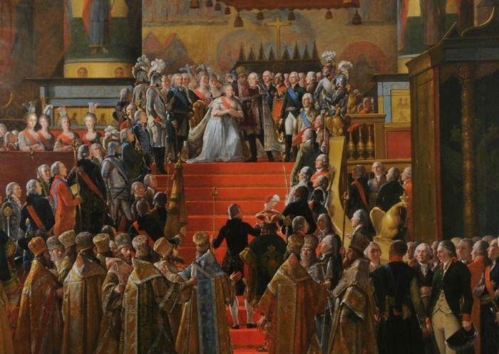 Коронация Павла I и Марии Фёдоровны./Фото: labuda.blog