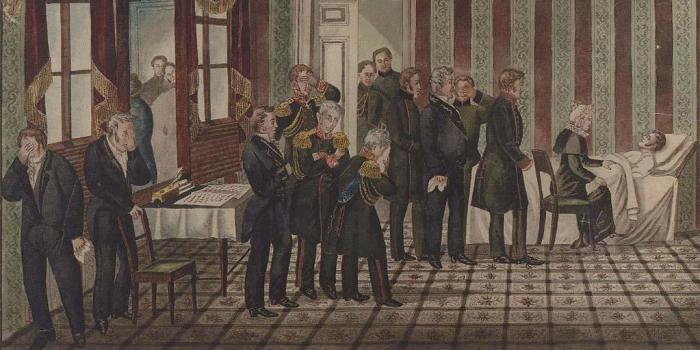 После смерти Александра I Константин не стал брать на себя ответственность за империю. /Фото: i.pinimg.com