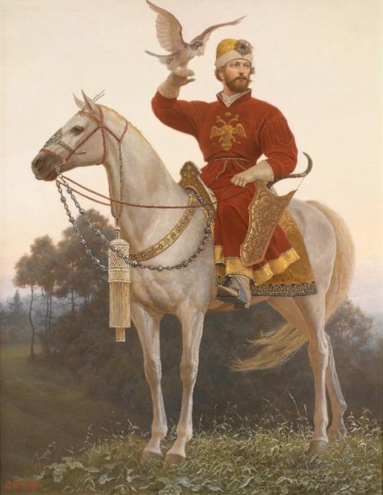 Царь Алексей Михайлович очень любил соколиную охоту.