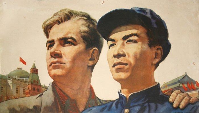 Со смертью Сталина пропаганда вечной дружбы между русскими и китайцами сошла на нет./Фото: vladtime.ru