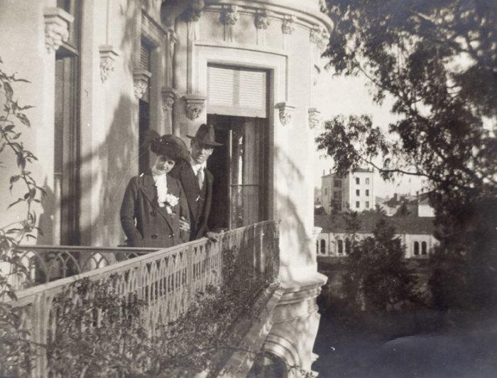 Михаил Романов с супругой Натальей Брасовой (Вульферт). Париж, 1913 г./Фото: ic.pics.livejournal.com