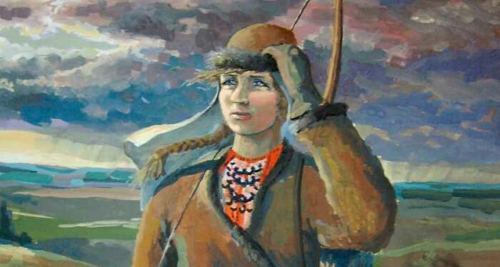 Алена удивляла владением луком. /Фото: armflot.ru