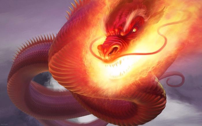 Огненный змей прилетал из дремучего леса. /Фото: fonstola.ru
