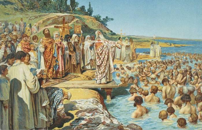 Крещение Руси./Фото: phototass3.cdnvideo.ru
