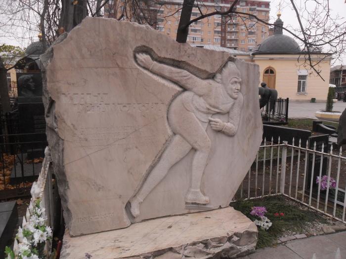 Могила Артамоновой на Ваганьковском кладбище Москвы./Фото: upload.wikimedia.org