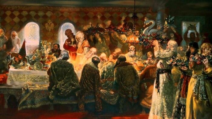 Анна Колтовская ничего не имела против пиров мужа. /Фото: i.ytimg.com