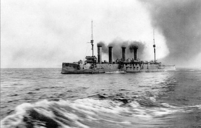 «Адмирал Макаров», входивший в состав русской эскадры, прибывший в 1908 году к берегам Италии для проведения учений в Средиземном море./Фото: imgprx.livejournal.net
