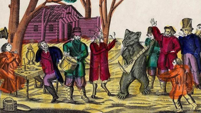 В середине 19 века вождение медведей было запрещено указом императора Александра II. /Фото: im.kommersant.ru