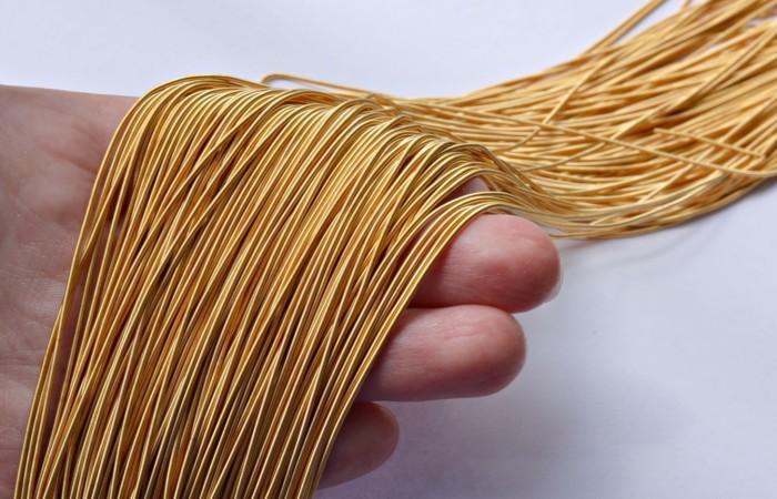 Канитель - тонкие золотые нити, которые надо было тянуть через маленькие отверстия. /Фото: pochemuha.ru