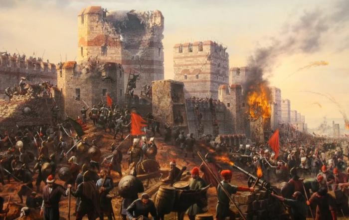 Взятие турками Константинополя в 1453 году. /Фото: avatars.mds.yandex.net