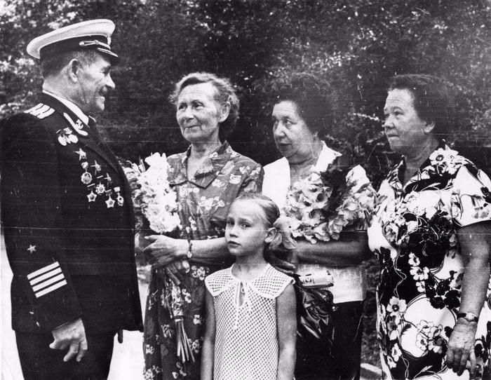 Встреча с командиром от Волжской флотилии. /Фото: histrf.ru