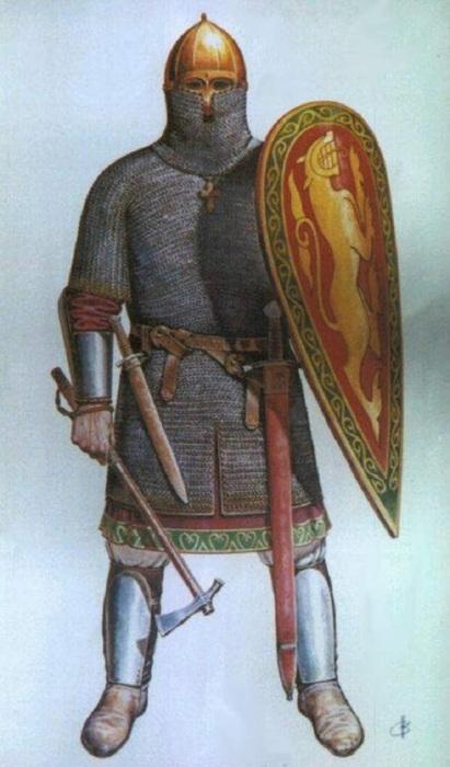 Помимо оружейного оснащения славянский воин уделял внимание защите. /Фото: ds04.infourok.ru