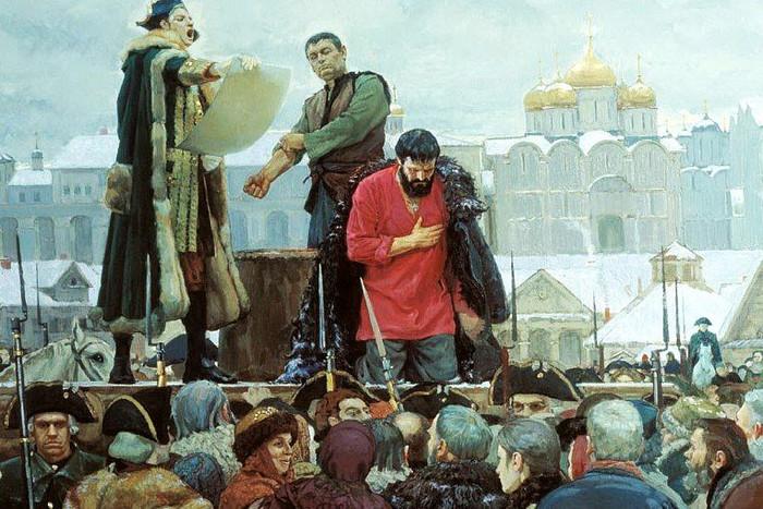 Казнь самозванца. /Фото: img.gazeta.ru