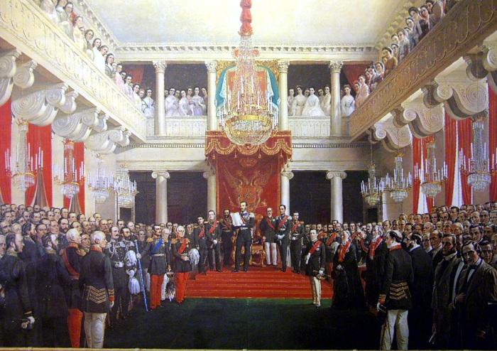 Открытие сейма 18 сентября 1863 года. Речь императора. /Фото: lh3.googleusercontent.com