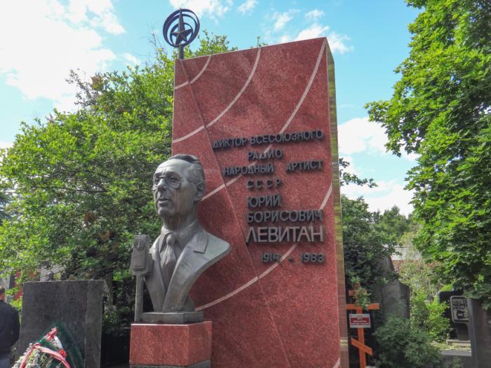 Могила Левитана в Москве./Фото: photos.wikimapia.org