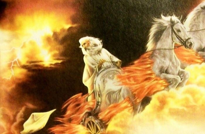 Гром гремит, молнии сверкают – это Илья Пророк на огненной колеснице летит по небу. /Фото: prophetweekly.com