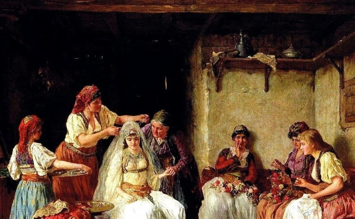 Невеста, становясь женой, переходила из одного состояние в другое. /Фото: pulse.mail.ru