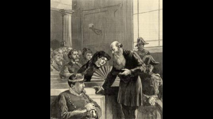 Пётр Кропоткин на Лионском процессе, в результате которого он был приговорён к 5 годам тюрьмы. 1883 г./Фото: i.ytimg.com