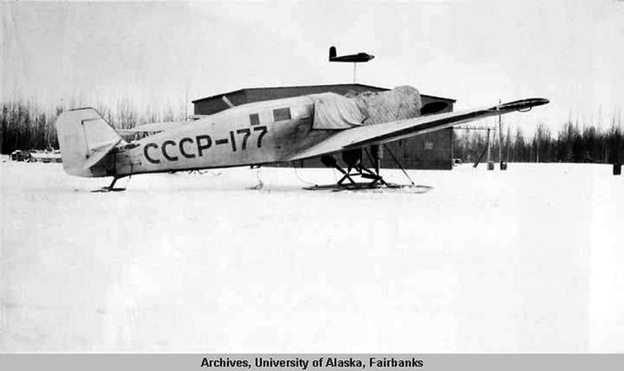 «Юнкерс W-33» (регистрационный номер СССР-177), который принимал участие в поисковой операции./Фото: ic.pics.livejournal.com