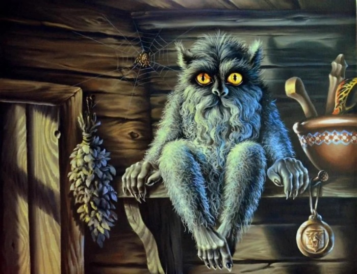 В бане могли жить черти, кикиморы и злой банник. /Фото: avatars.mds.yandex.net