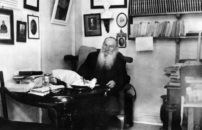 Л.Н. Толстой в своем кабинете./Фото: avatars.mds.yandex.net