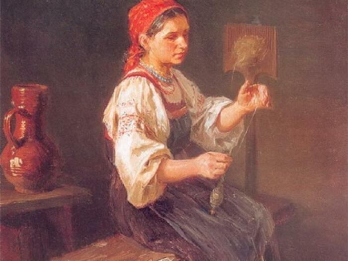 Женщина должна была усердно заниматься домашним хозяйством. /Фото: viemusei.ru