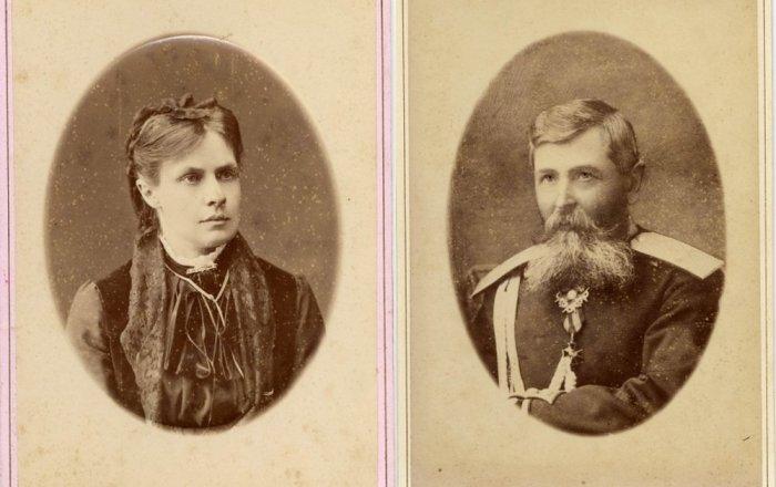 Мать Нина Викторовна Беневская, урождённая Иващенко (1850-1906) и отец Аркадий Семёнович Беневский (1840-1913)./Фото: mtdata.ru
