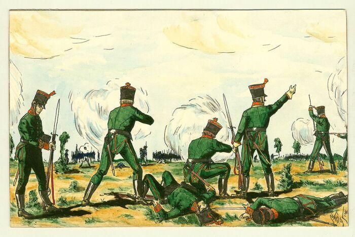 Егери в бою. /Фото: i.pinimg.com