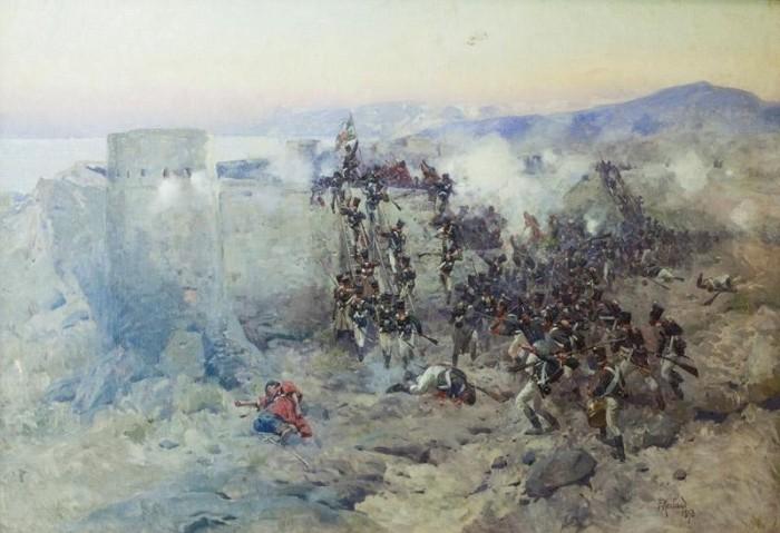 Значительно уступающий врагу по численности отряд отвоевал две крепости. /Фото: osp.ru