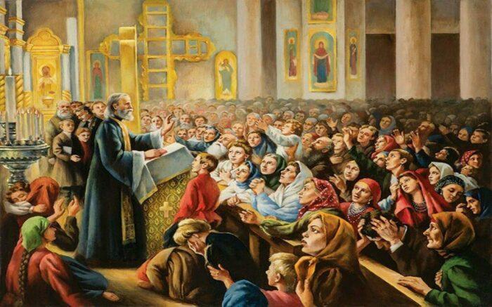 Церковнослужители прибегали к помощи глашатаев, чтобы расширить аудиторию. /Фото: media.elitsy.ru