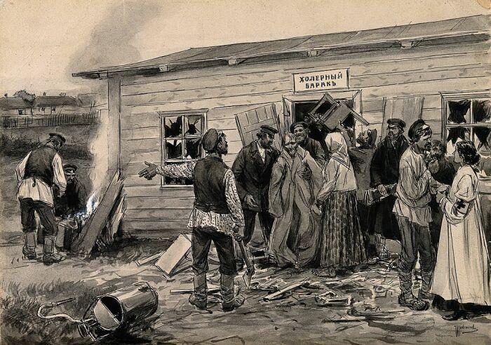 Причиной эпидемии холеры крестьяне считали отравленную росу. /Фото: 342031.selcdn.ru