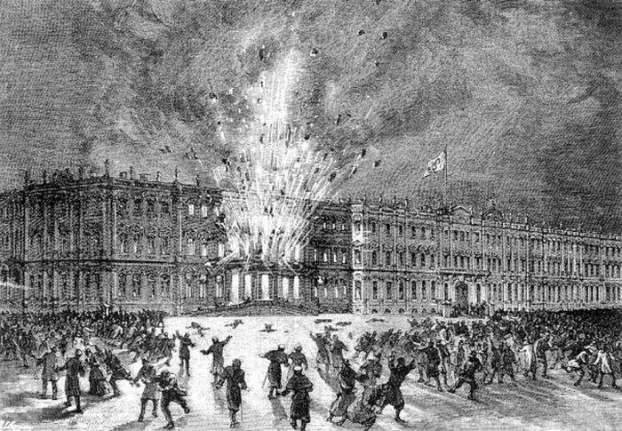 Покушение на императора и его семью в Зимнем дворце в Санкт-Петербурге в 1880 году./Фото: img.rg.ru
