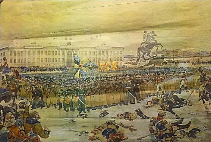 Разгром декабристов на Сенатской площади./Фото: s00.com