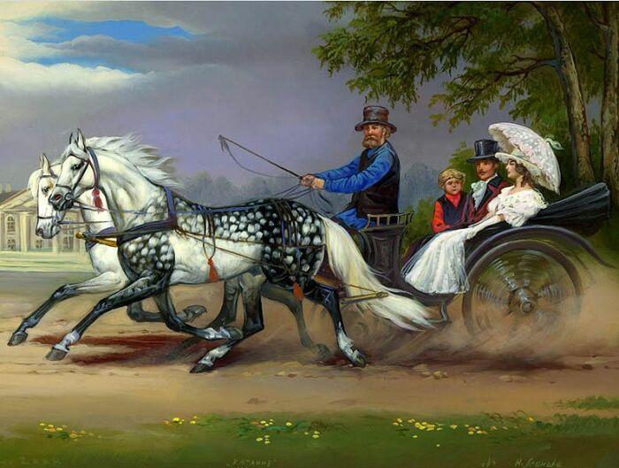 Родители могли катать дочь в карете, чтобы окружающие оценили ее красоту. /Фото: i.pinimg.com