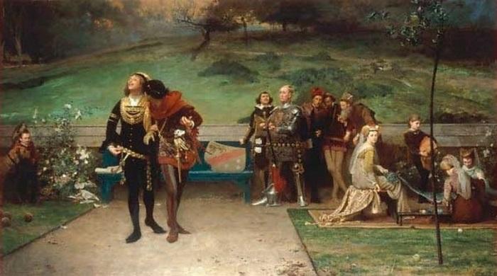 Король Эдуард II и его фаворит Пирс Гавестон. Маркус Стоун.