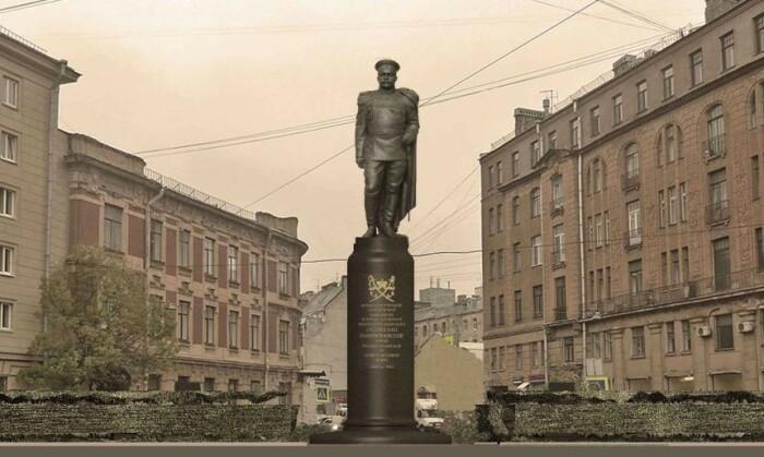 Памятник генералу в Санкт-Петербурге. /Фото: i0.wp.com