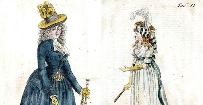 Иллюстрации из издания «Журнал английских, французских и немецких мод». /Фото: 2do2go.ru